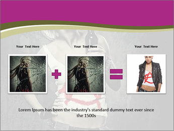 Crazy Punk Girl PowerPoint Templates - Slide 22