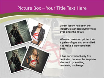 Crazy Punk Girl PowerPoint Templates - Slide 23