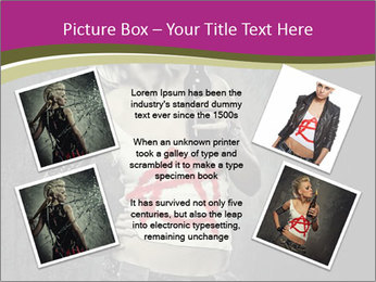 Crazy Punk Girl PowerPoint Templates - Slide 24