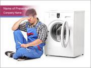 Repairman and Broken Washing Machine PowerPoint Templates