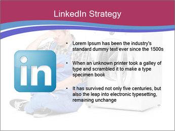 Repairman and Broken Washing Machine PowerPoint Templates - Slide 12