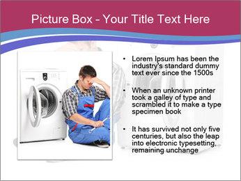 Repairman and Broken Washing Machine PowerPoint Templates - Slide 13
