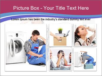 Repairman and Broken Washing Machine PowerPoint Templates - Slide 19