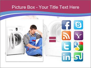 Repairman and Broken Washing Machine PowerPoint Templates - Slide 21