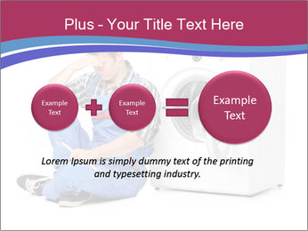 Repairman and Broken Washing Machine PowerPoint Templates - Slide 75