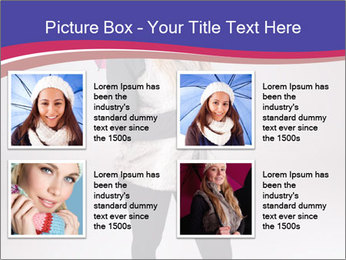 Teenager Girl with Pink Umbrella PowerPoint Template - Slide 14