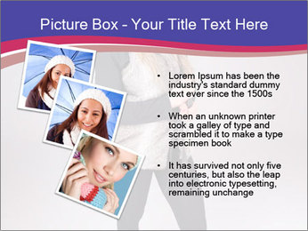 Teenager Girl with Pink Umbrella PowerPoint Template - Slide 17