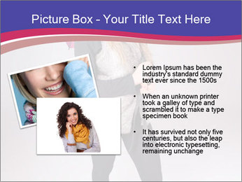 Teenager Girl with Pink Umbrella PowerPoint Template - Slide 20