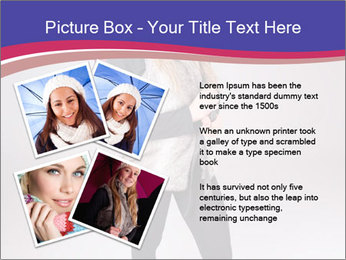 Teenager Girl with Pink Umbrella PowerPoint Template - Slide 23