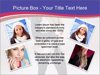 Teenager Girl with Pink Umbrella PowerPoint Template - Slide 24