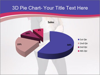 Teenager Girl with Pink Umbrella PowerPoint Template - Slide 35