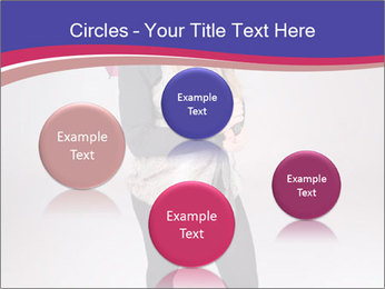 Teenager Girl with Pink Umbrella PowerPoint Template - Slide 77