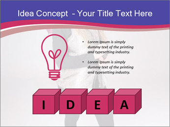 Teenager Girl with Pink Umbrella PowerPoint Template - Slide 80