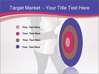 Teenager Girl with Pink Umbrella PowerPoint Template - Slide 84