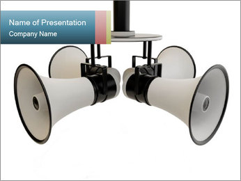 City Megaphone PowerPoint Template - Slide 1