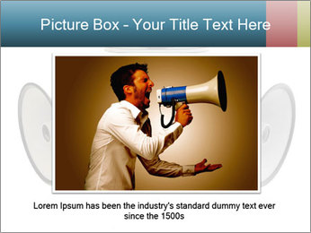 City Megaphone PowerPoint Template - Slide 15