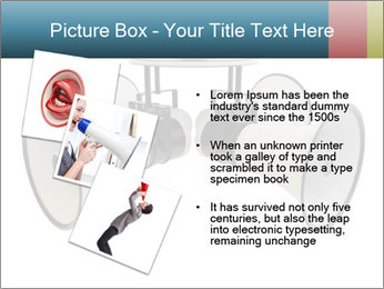 City Megaphone PowerPoint Template - Slide 17