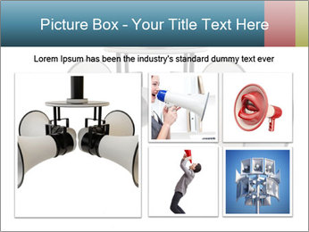 City Megaphone PowerPoint Template - Slide 19