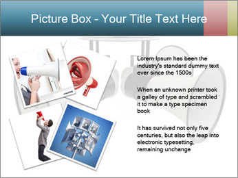 City Megaphone PowerPoint Template - Slide 23