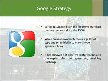 Urban Woman Wearing Dress PowerPoint Template - Slide 10