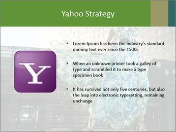 Urban Woman Wearing Dress PowerPoint Template - Slide 11