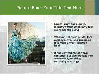 Urban Woman Wearing Dress PowerPoint Template - Slide 13
