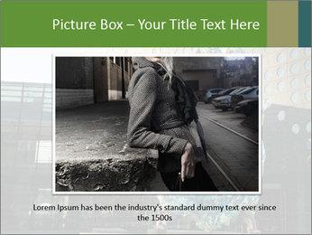 Urban Woman Wearing Dress PowerPoint Template - Slide 16