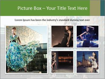 Urban Woman Wearing Dress PowerPoint Template - Slide 19