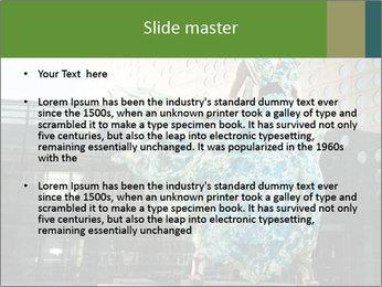 Urban Woman Wearing Dress PowerPoint Template - Slide 2