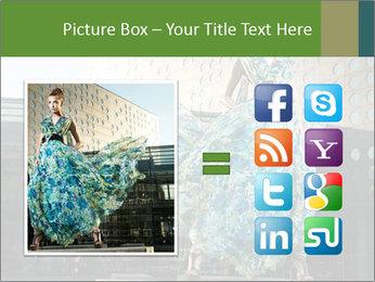 Urban Woman Wearing Dress PowerPoint Template - Slide 21