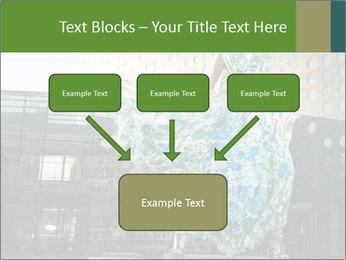 Urban Woman Wearing Dress PowerPoint Template - Slide 70