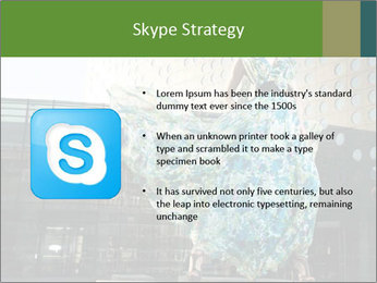 Urban Woman Wearing Dress PowerPoint Template - Slide 8