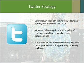 Urban Woman Wearing Dress PowerPoint Template - Slide 9