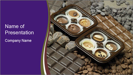 Chocolate Mini Muffins PowerPoint Template