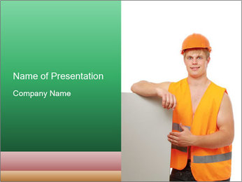 Young Workman PowerPoint Templates - Slide 1