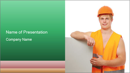 Young Workman PowerPoint Template