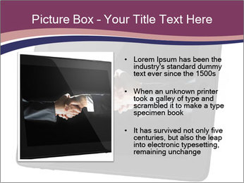 Tabley with Handshake Image PowerPoint Template - Slide 13