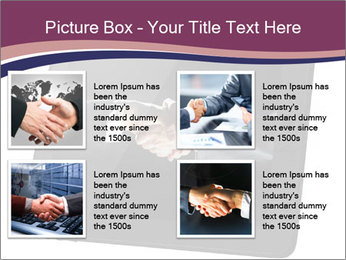 Tabley with Handshake Image PowerPoint Template - Slide 14