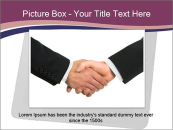 Tabley with Handshake Image PowerPoint Template - Slide 15