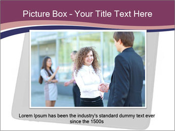 Tabley with Handshake Image PowerPoint Template - Slide 16