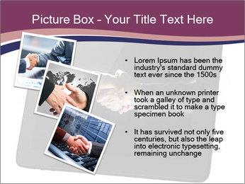 Tabley with Handshake Image PowerPoint Template - Slide 17