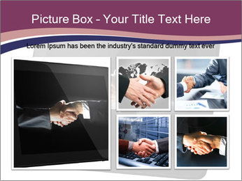 Tabley with Handshake Image PowerPoint Template - Slide 19