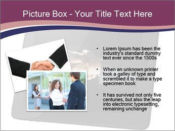 Tabley with Handshake Image PowerPoint Template - Slide 20