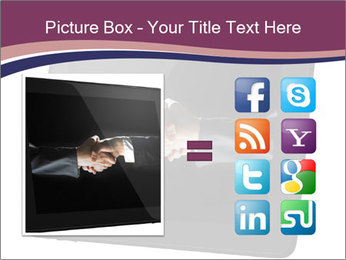Tabley with Handshake Image PowerPoint Template - Slide 21