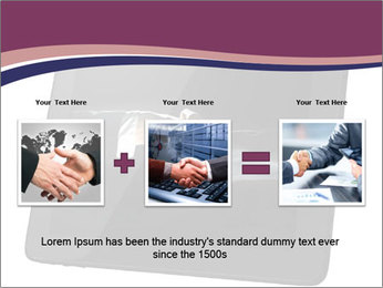 Tabley with Handshake Image PowerPoint Templates - Slide 22