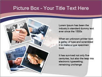 Tabley with Handshake Image PowerPoint Template - Slide 23