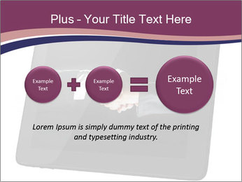 Tabley with Handshake Image PowerPoint Templates - Slide 75