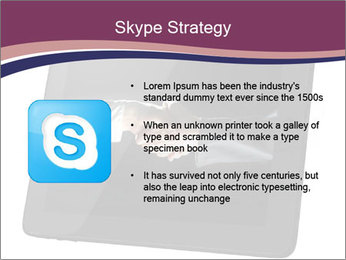 Tabley with Handshake Image PowerPoint Templates - Slide 8