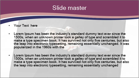 Tabley with Handshake Image PowerPoint Template - Slide 2