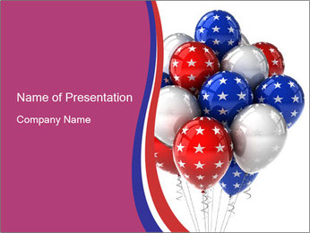 American Balloons PowerPoint Template